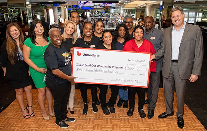 Union Bank donates $5,000 to the the Feed our Community Program